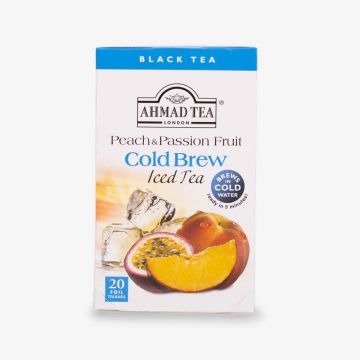 Peach & Passion Fruit Cold Brew - Iced Tea - 20 Foil Teabags