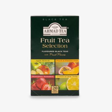 Fruit Tea Selection of 4 Fruit Black Teas - 20 Foil - شاي فواكه متنوع