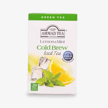 Green Tea Lemon & Mint Cold Brew - Iced Tea - 20 Foil Teabags