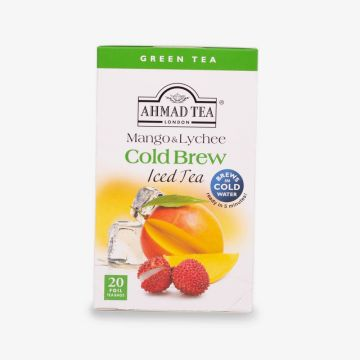 Green Tea Mango & Lychee Cold Brew - Iced Tea - 20 Foil teabags