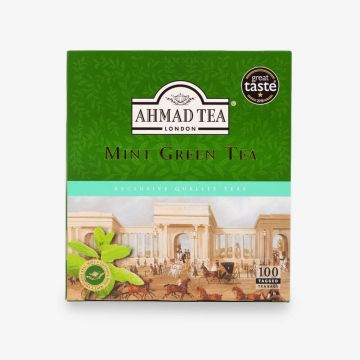 Mint Green Tea 100 Teabags - شاي اخضر بالنعناع فتله